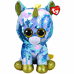 LARGE SEQUIN DAZZLE BLUE UNICORN