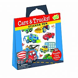 CARS & TRUCKS REUSABLE STICKERS