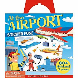 AT THE AIRPORT REUSABLE STICKER TOTE
