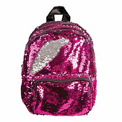 MINI BACKPACK SEQUIN PINK/SILVER