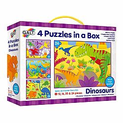 4 PUZZLE IN A BOX - DINOSAUR