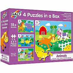 4 PUZZLES IN A BOX ANIMALS