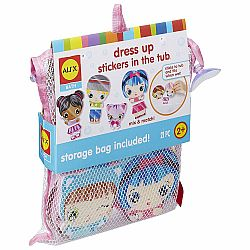 DRESS UP STICKERS IN THE TUB