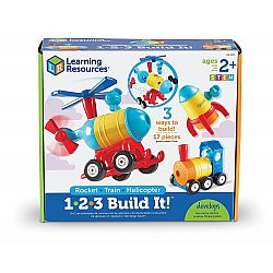 1-2-3 BUILD IT ROCKET-TRAIN-HELICOPTER
