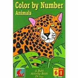 COLOR BY NUMBERS ANIMALS BUKI BOOK MED