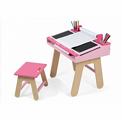 DESK & CHAIR PINK