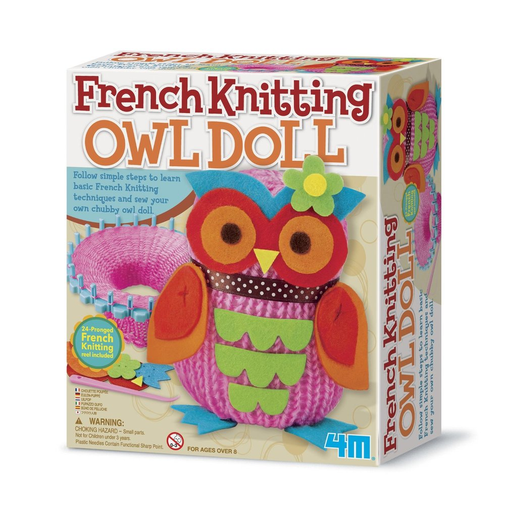 French Knitting Doll : French knitting owl doll toys learn