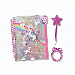 JOURNAL WITH POUCH UNICORN