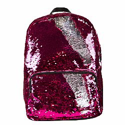 BACKPACK SEQUIN PINK/SILVER