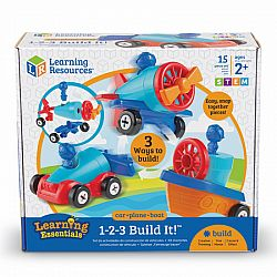 1-2-3 BUILD IT! CAR, BOAT, PLANE