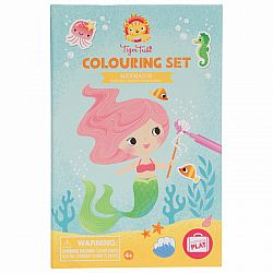 COLOURING SET MERMAIDS